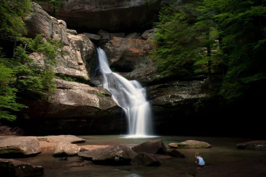 Waterfall at Cedar Falls Trail