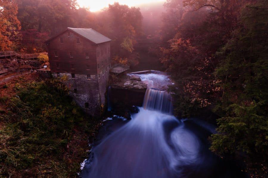 Lanterman's Falls waterfall in Ohio