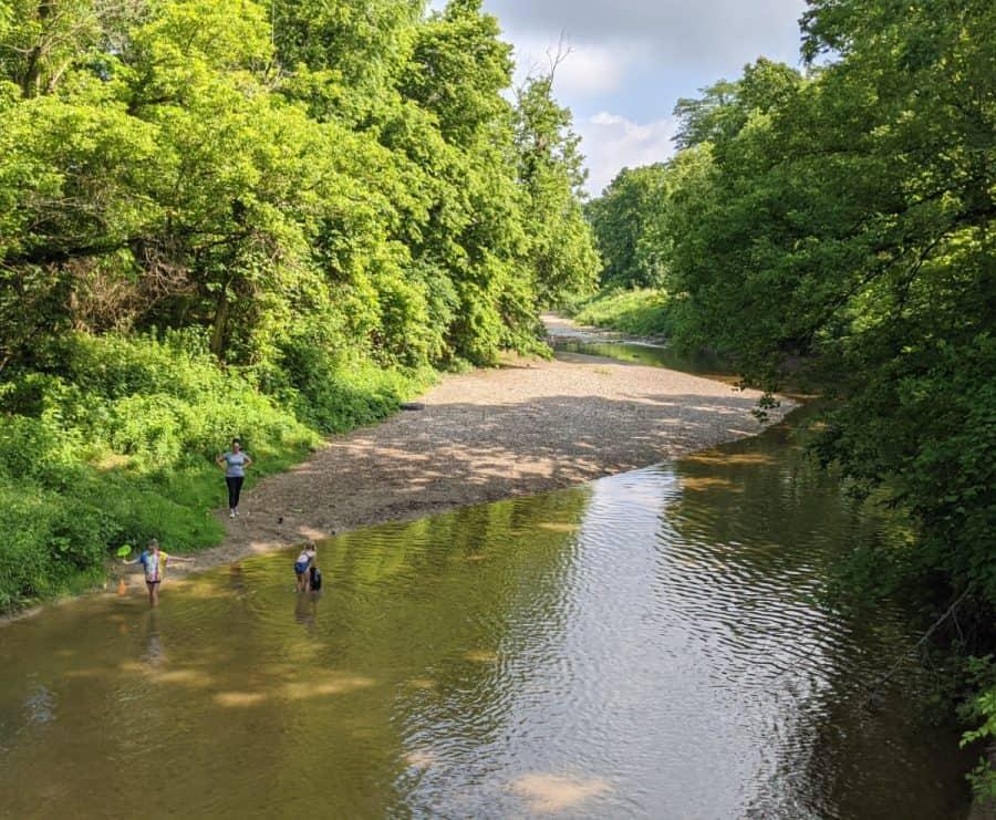 creeking at Miami Whitewater Forest in Cincinnati