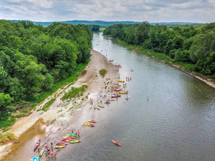 Green Acres Canoe and Kayak on the river