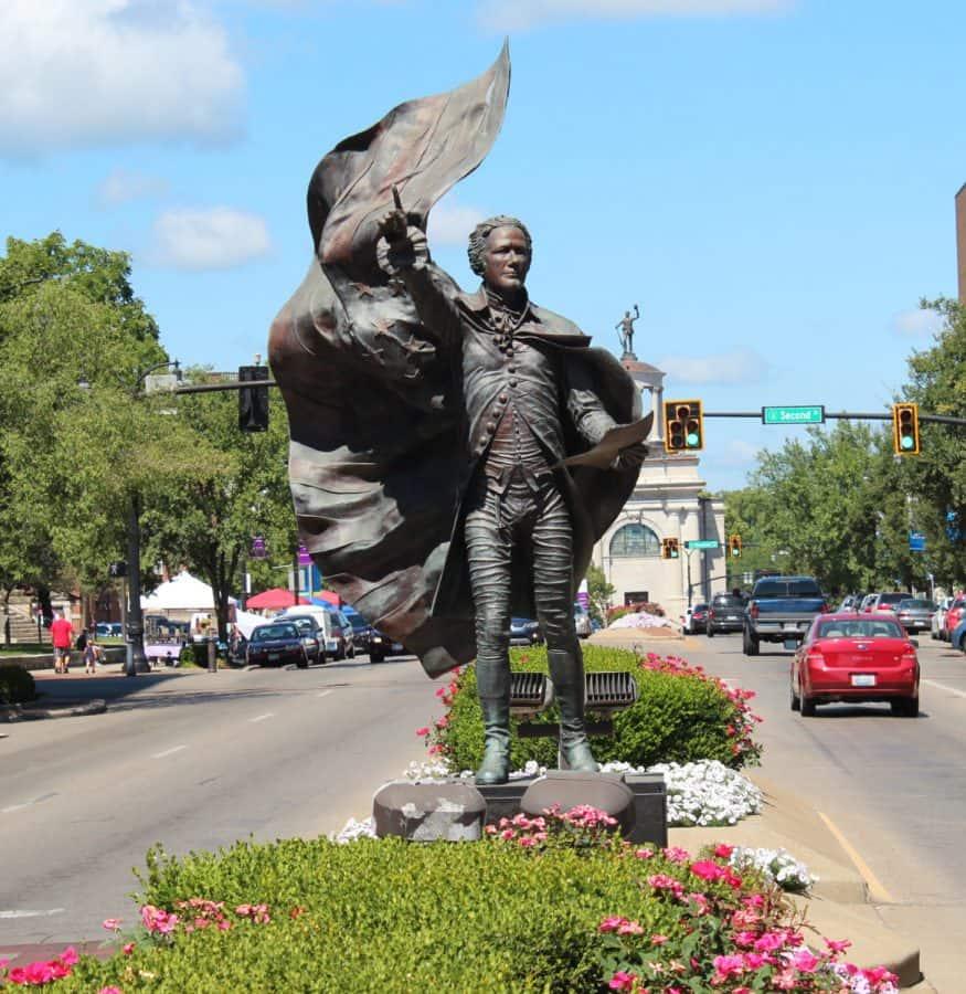 Alexander Hamilton statue in Hamilton, Ohio
