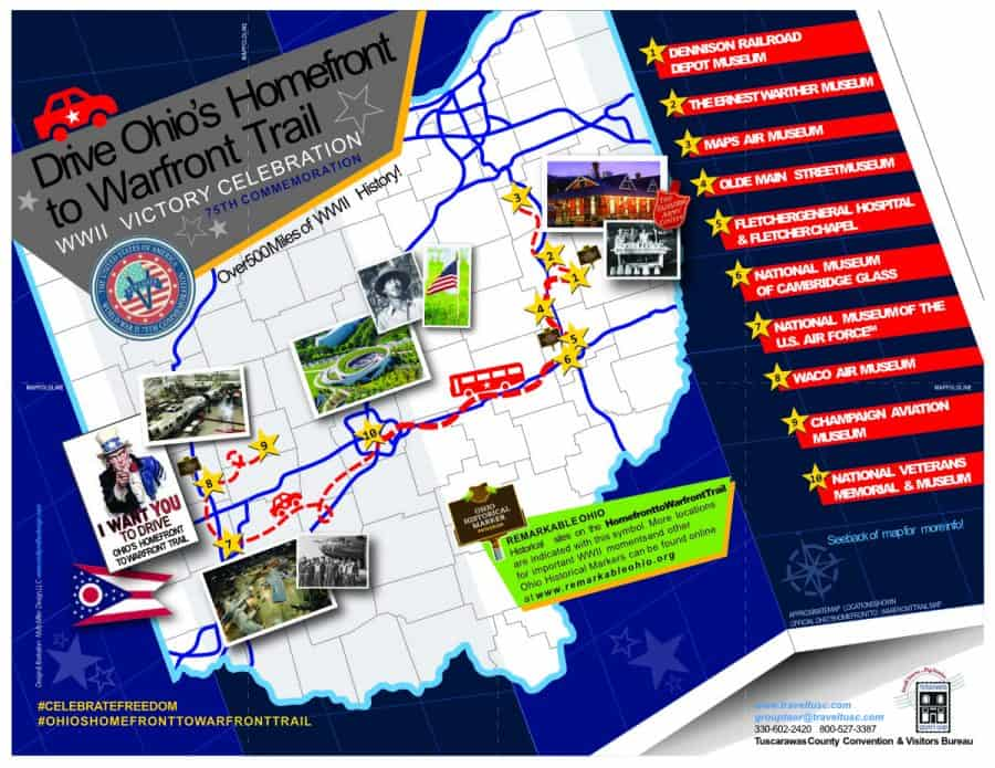 The Ohio Homefront to Warfront Trail flyer