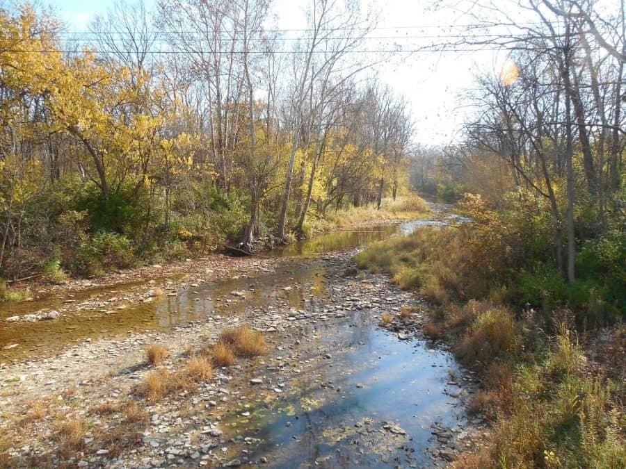 Water flowing at Hueston Woods, a short trip from Cincinnati