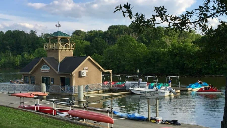 The Winton Woods boathouse is a great source of Cincinnati Staycation fun!