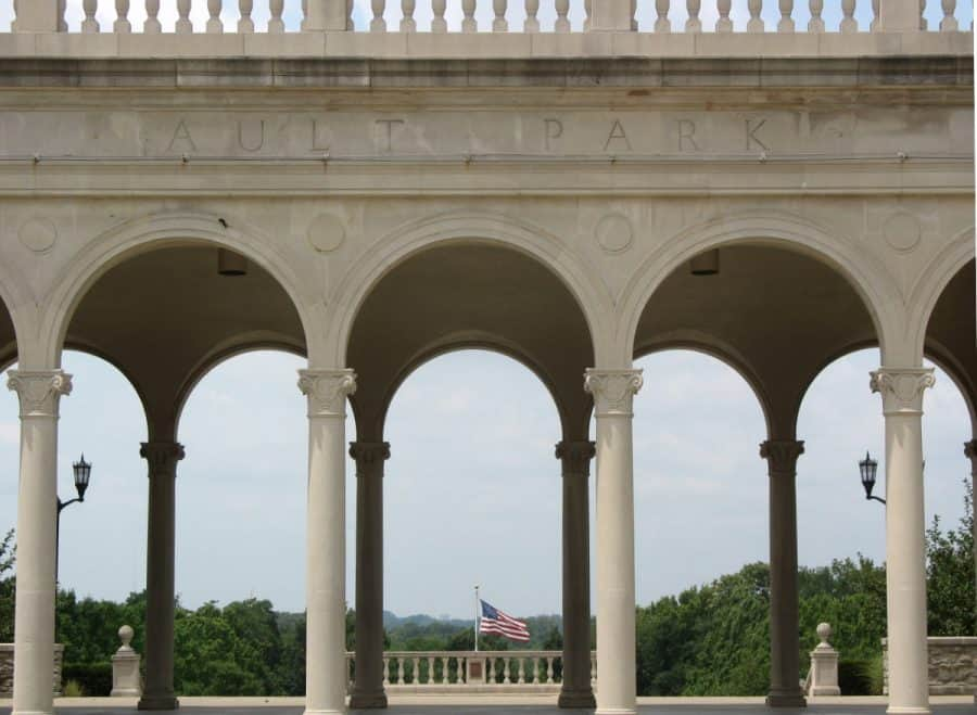 The columns at Ault Park