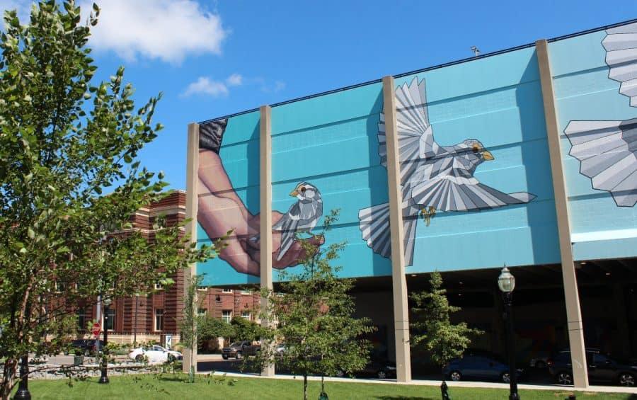 Taking Flight, a mural in Hamilton, Ohio