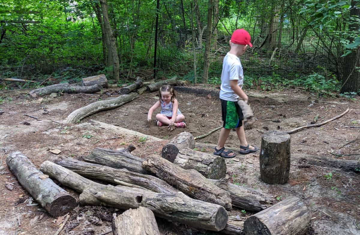 Dig in the sand at the Nature PlayScape at the Cincinnati Nature Center