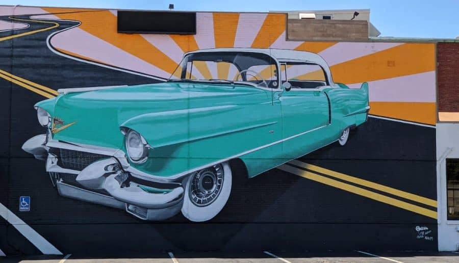 Hey Caddy-O, a mural in Hamilton Ohio