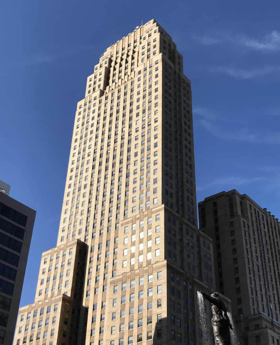 The majestic Carew Tower in Cincinnati, Ohio