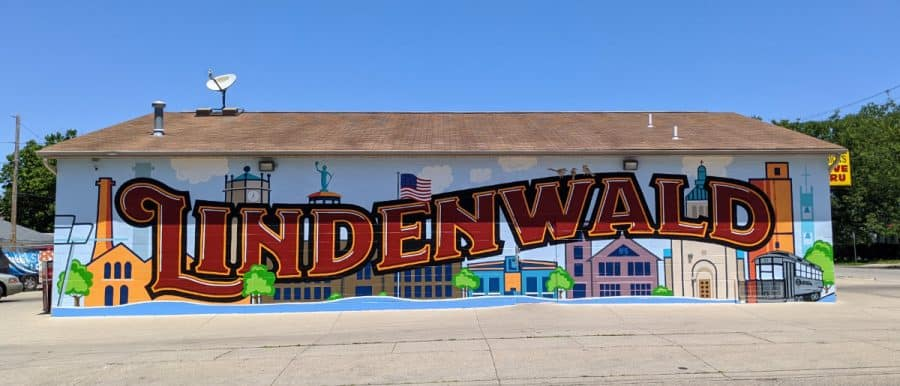 the mural in Lindenwald