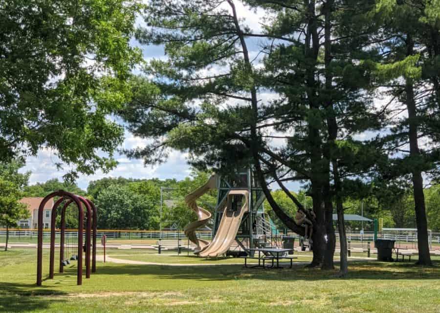 tall slide at Cottell Park