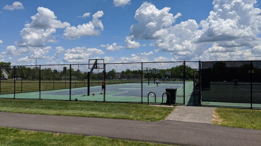 tennis and basketball courts at Cottell Park