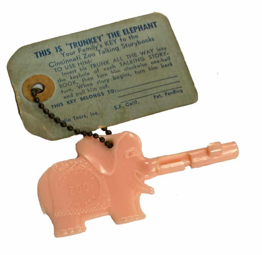 Trunkey the Elephant, the original Talking Storybooks key for the Cincinnati Zoo