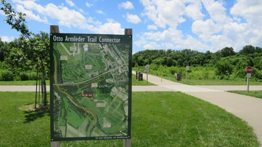 The Otto Armleder Trail Connector is a great place for some bike riding in Cincinnati