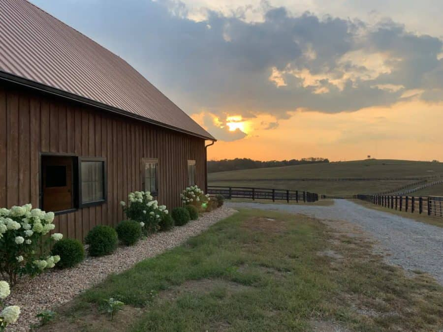 the Yearling Barn, an Airbnb rental in Kentucky