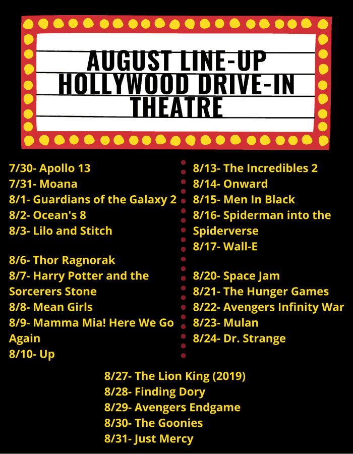 Hollywood Theatre movie line up for August