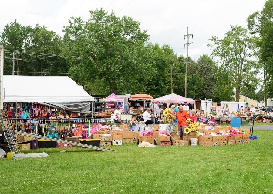 Tiffin Flea Market, one of the largest flea market in Ohio