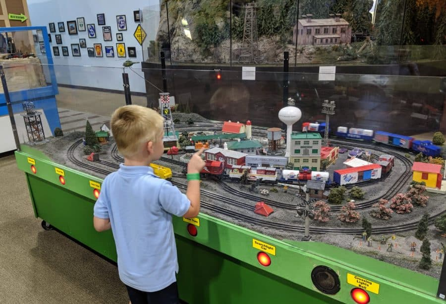 indoor play with the trains at EnterTRAINment junction