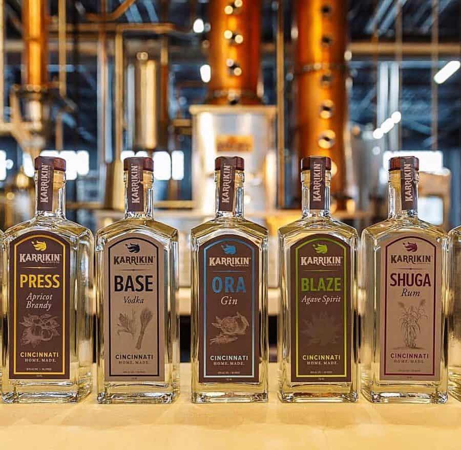 Karrikin bottles at the distillery