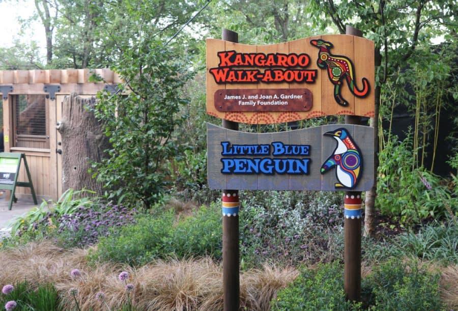 Kangaroo Walk-About Signage at The Cincinnati Zoo