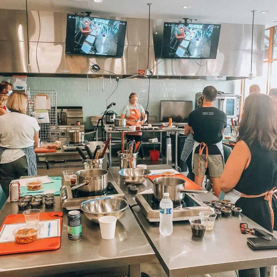 Group cooking classes in Cincinnati  at Tablespoon Cooking Co.