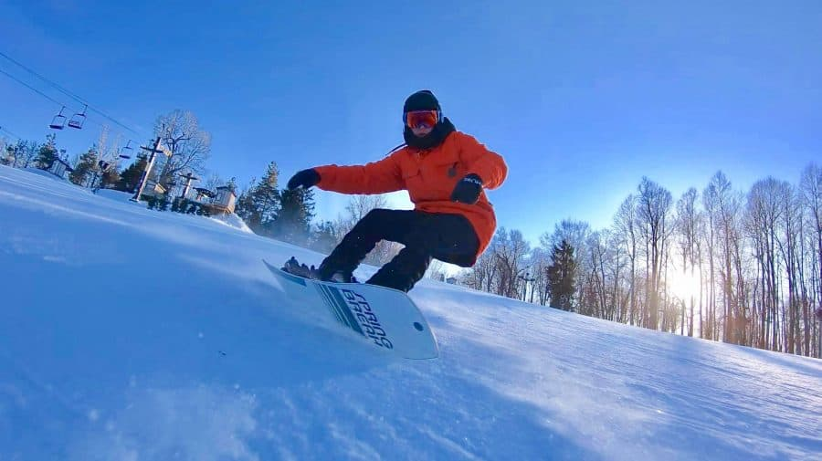 Snow boarding at Snow Trails in Ohio