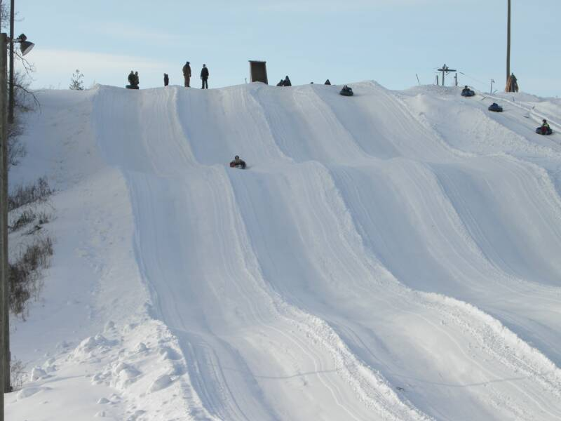 Valley's Edge Snow Tubing hill