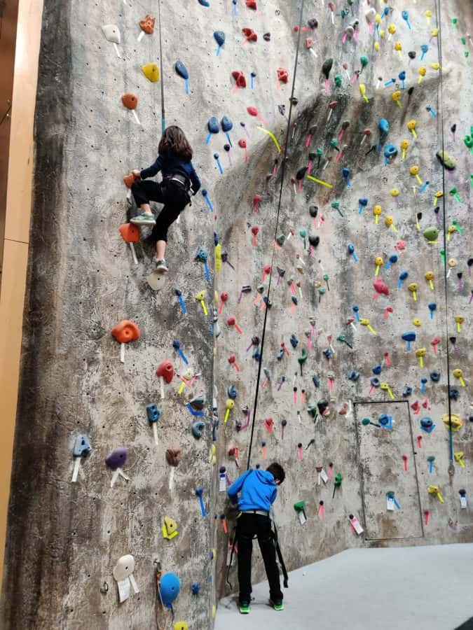 The Blue Ash Rec Center's pic of their climbing wall