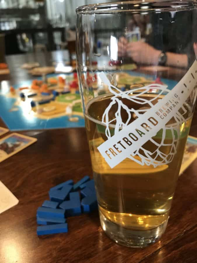 A beer and game play at Fretboard Brewing Company in Blue Ash