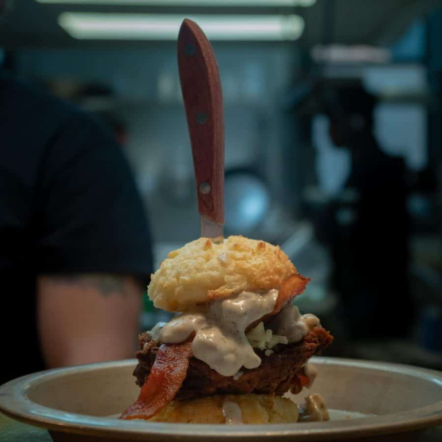 The Yukon biscuit from Boomtown; photo credit to Boomtown Biscuits & Whiskey