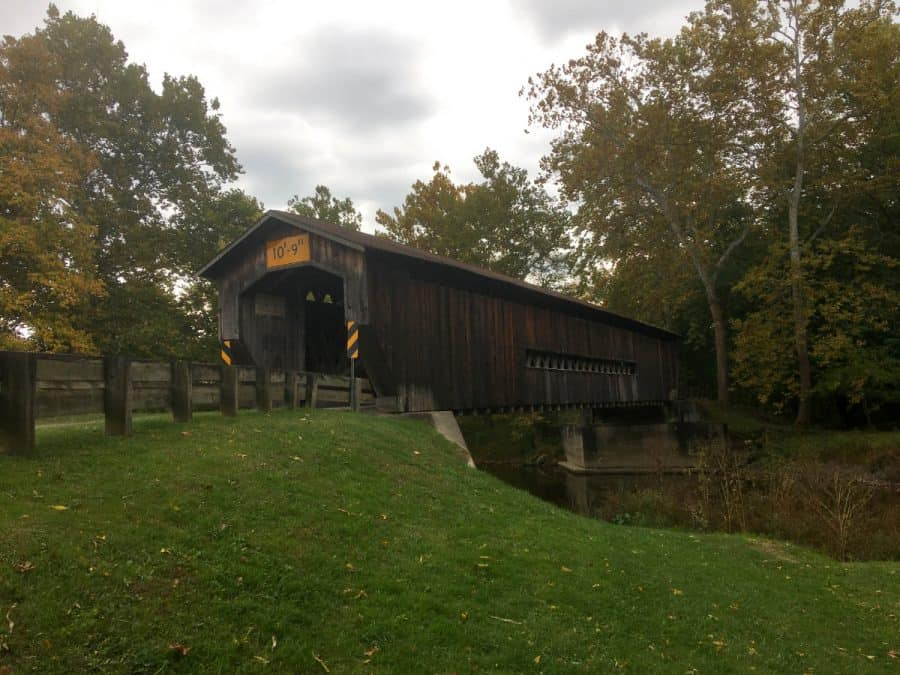The Benetka Road Covered Bridge in Ashtabula County, Ohio
