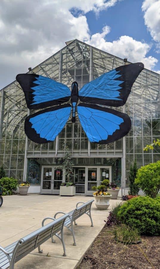 front of the Krohn Conservatory in Eden Park
