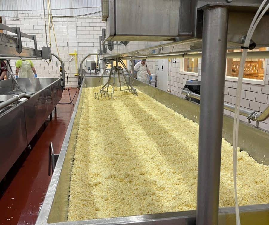 Making cheese at Heini's in Ohio