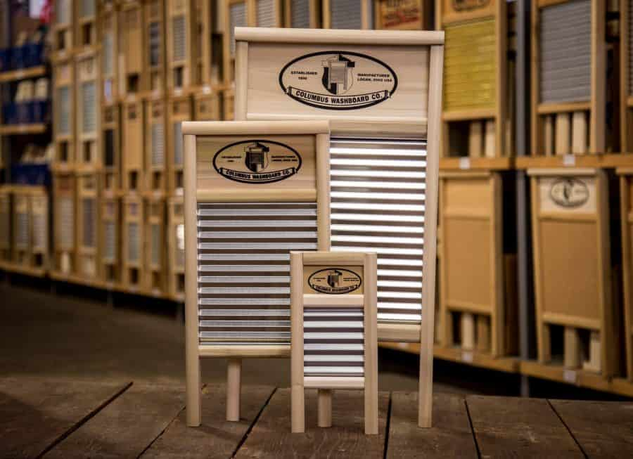 Washboards at the Columbus Washboard Company Factory Tours