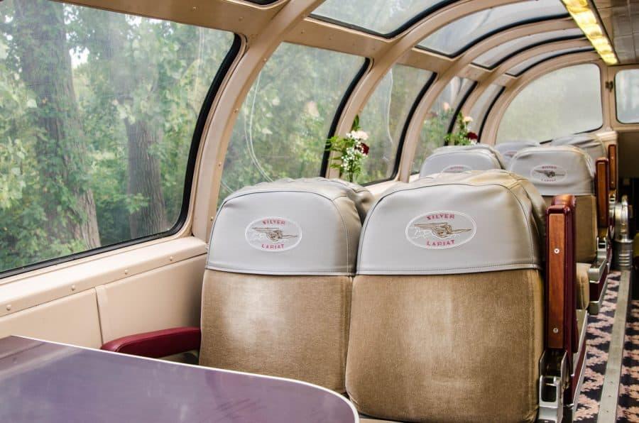 The Silver Lariat Dome train car